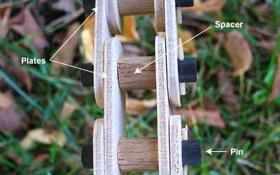 Fahrradkette aus Holz