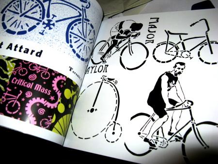 schicke fahrrad-stencils