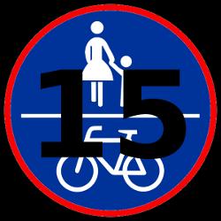 15-km/h-Radweg