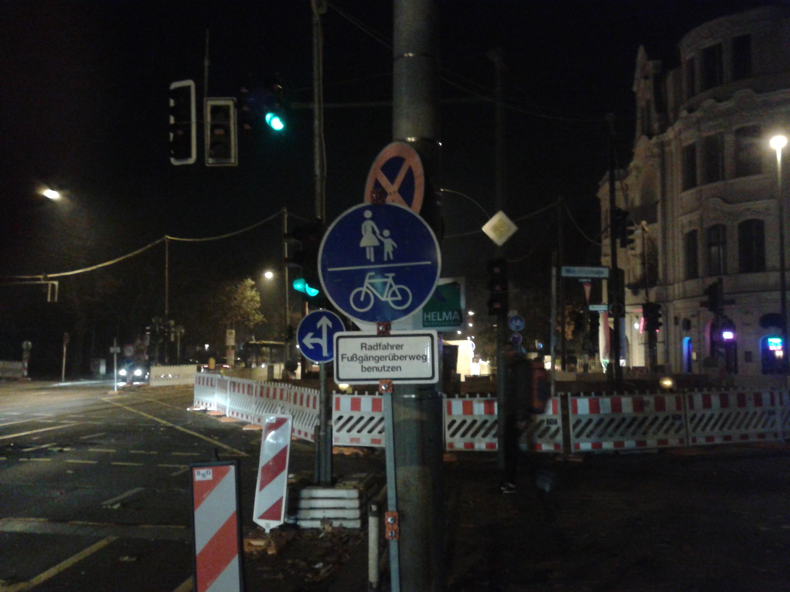Radwegbeschilderung