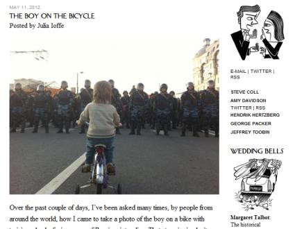 The New Yorker: The Boy on the Bicycle