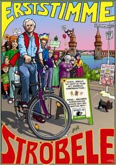 Ströbeles Wahlplakat 2005